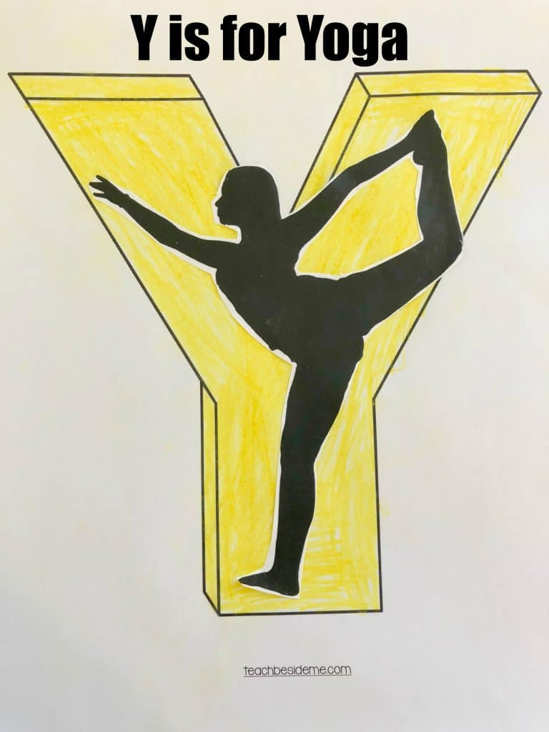 letter Y craft- y is for yoga
