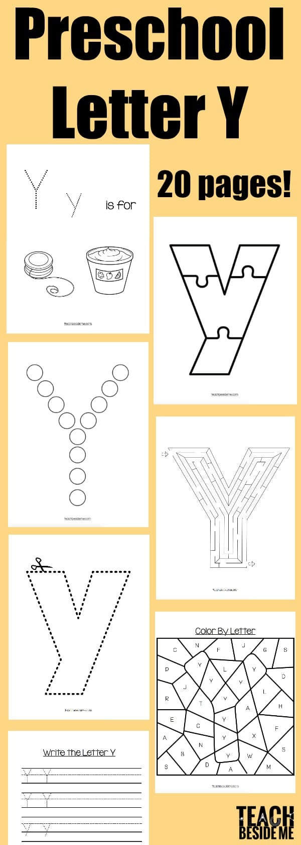 preschool letter Y activities & worksheets