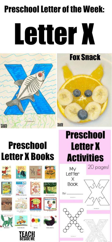 Letter of the Week: Preschool Letter X Activities – Teach Beside Me