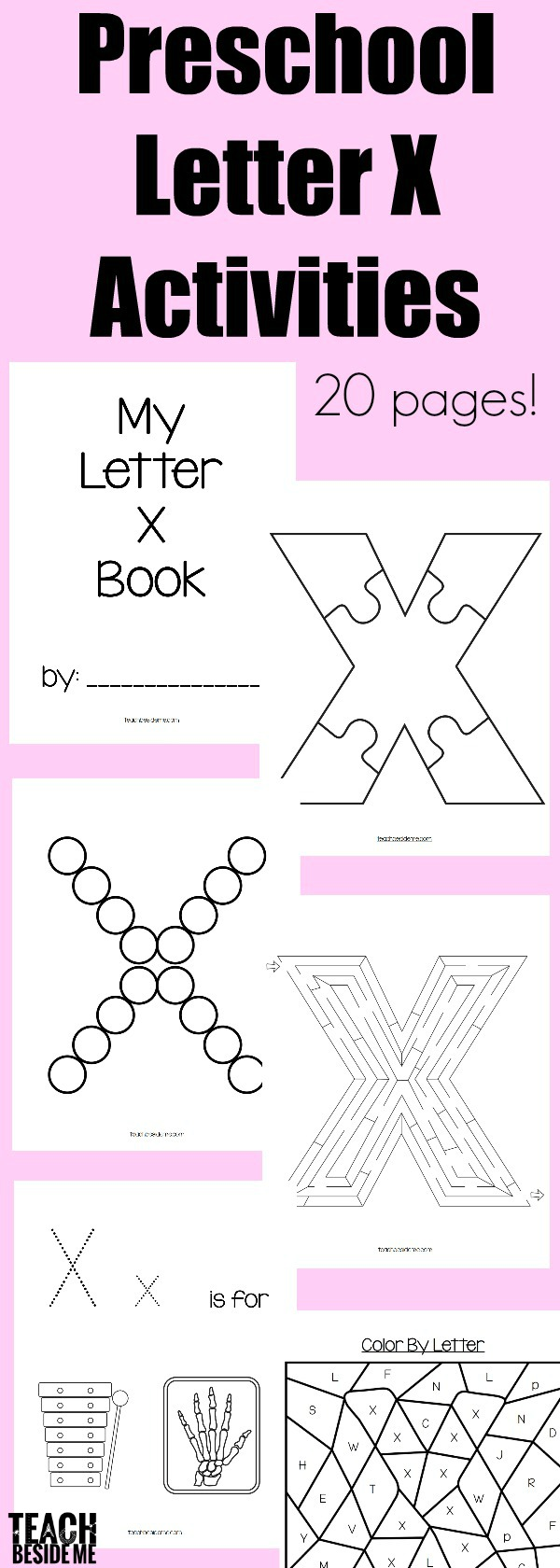 Letter of the Week Preschool Letter X Activities Teach Beside Me