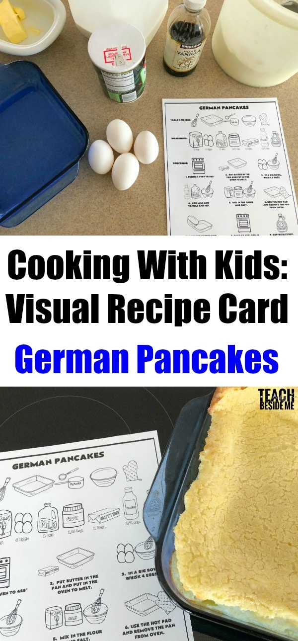 Kids Cooking Lesson- Visual Recipe- German Pancakes