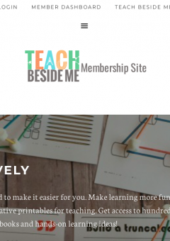 Teach Beside Me Membership Site