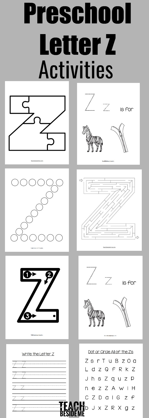preschool letter z activities and worksheets