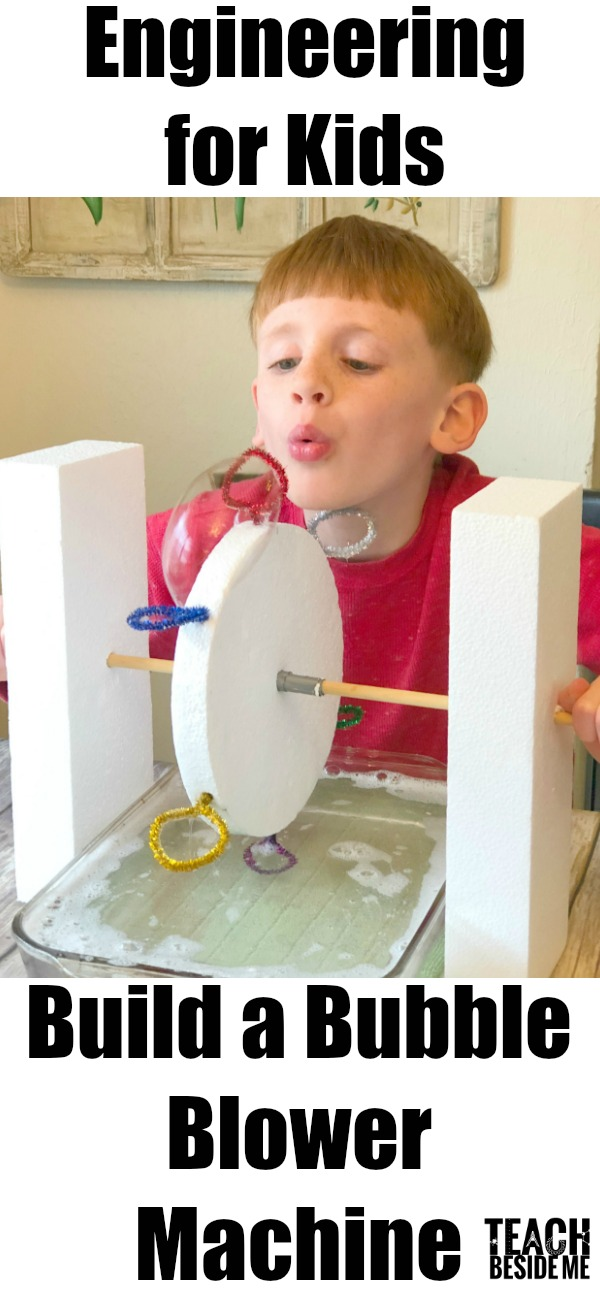 Engineering for kids bubble blower machine