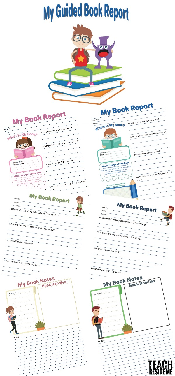 Guided Book Report For Kids  Teach Beside Me