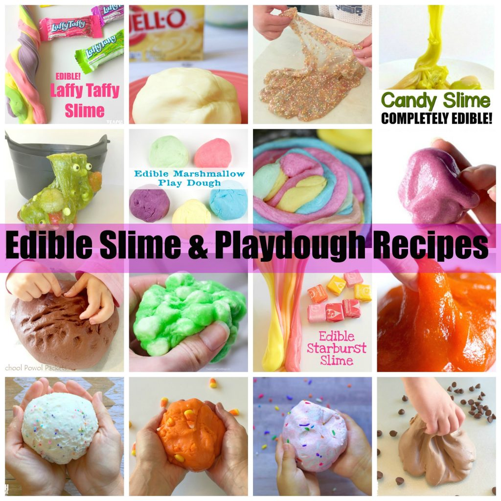 edible slime and play dough recipes