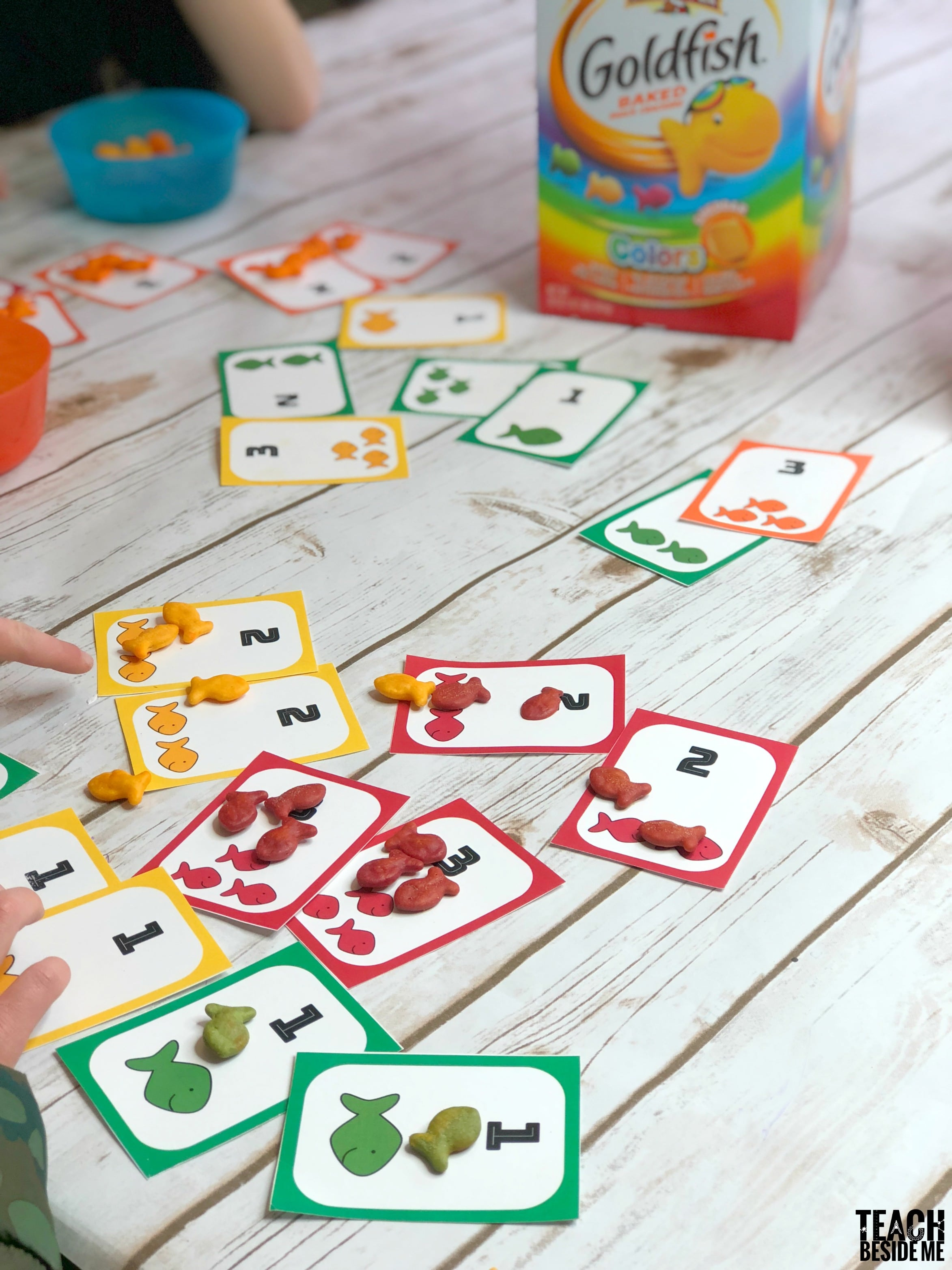 goldfish catch a number card game