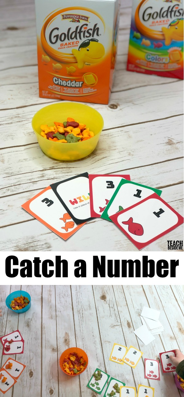 goldfish cracker catch a number card game