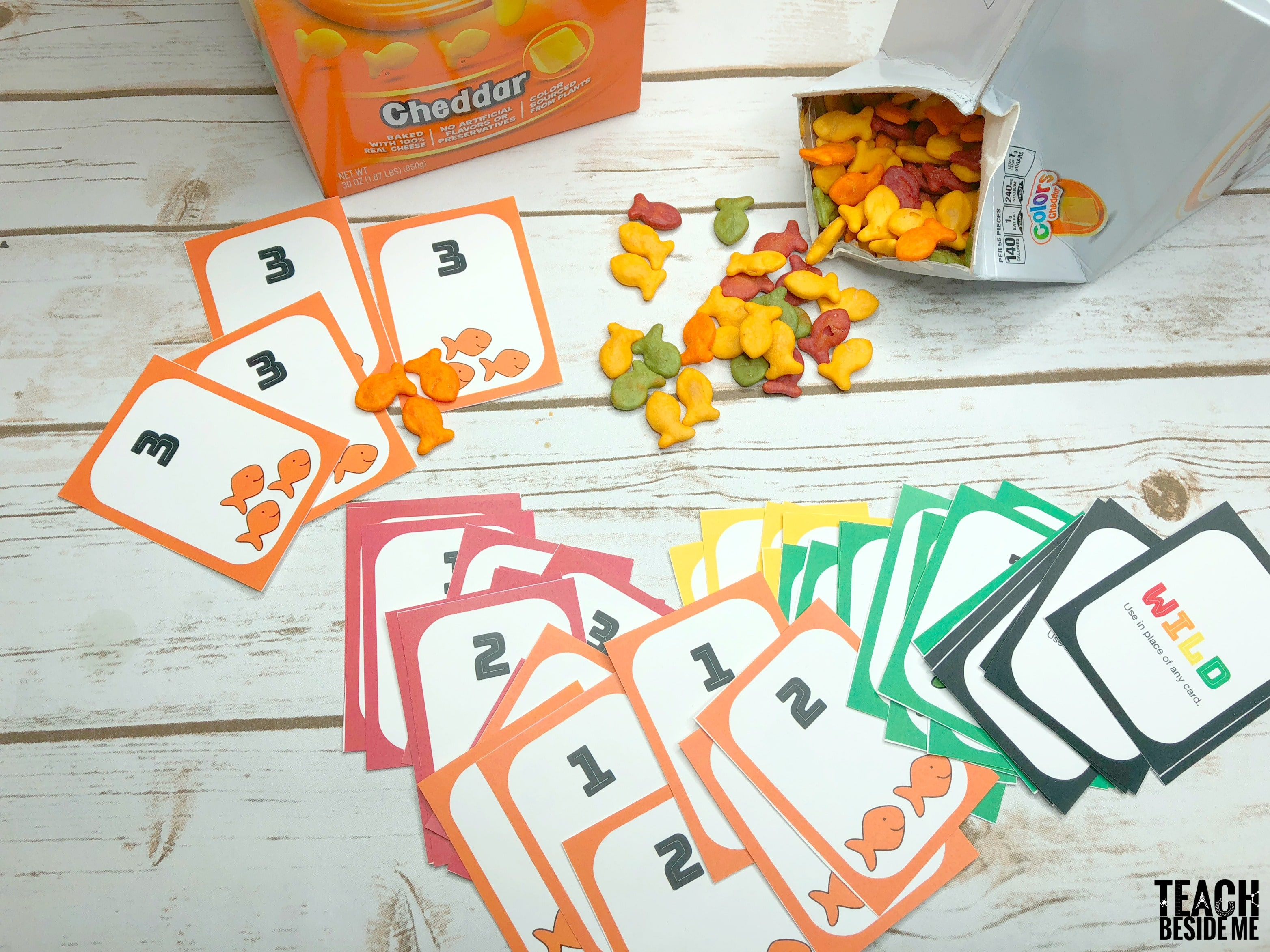 Goldfish catch a number card game for How to play fish table game