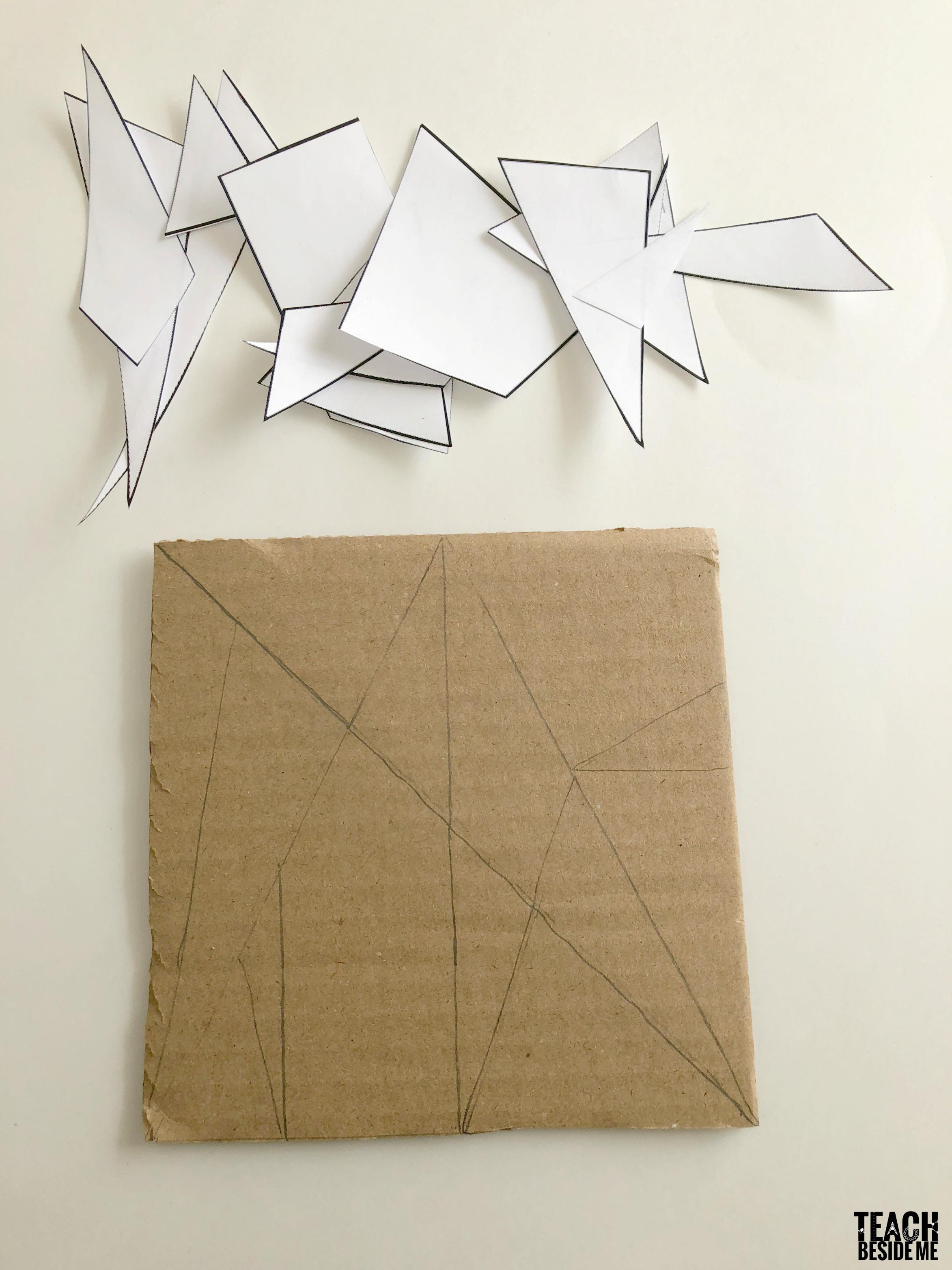 making a math puzzle tangram