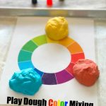 Rainbow Play Dough Color Mixing