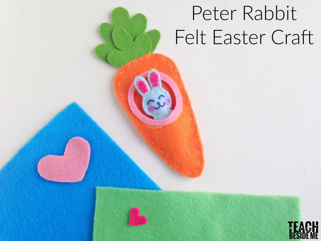 Peter Rabbit Felt Easter Craft 2