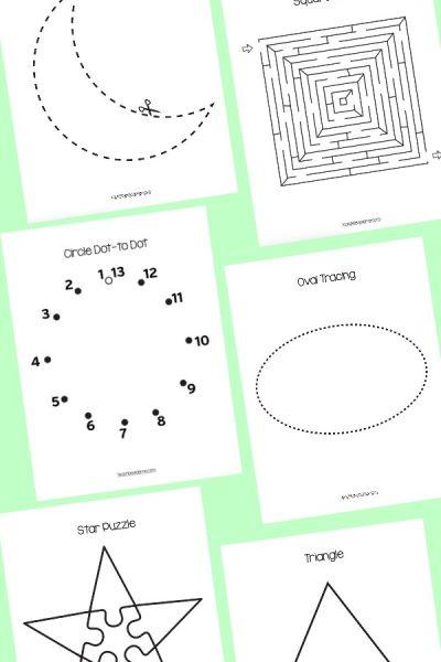 Preschool Shapes Learning Pack