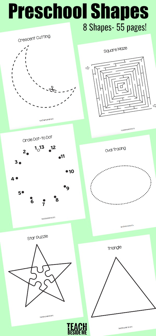 Preschool Shapes Printable Pack