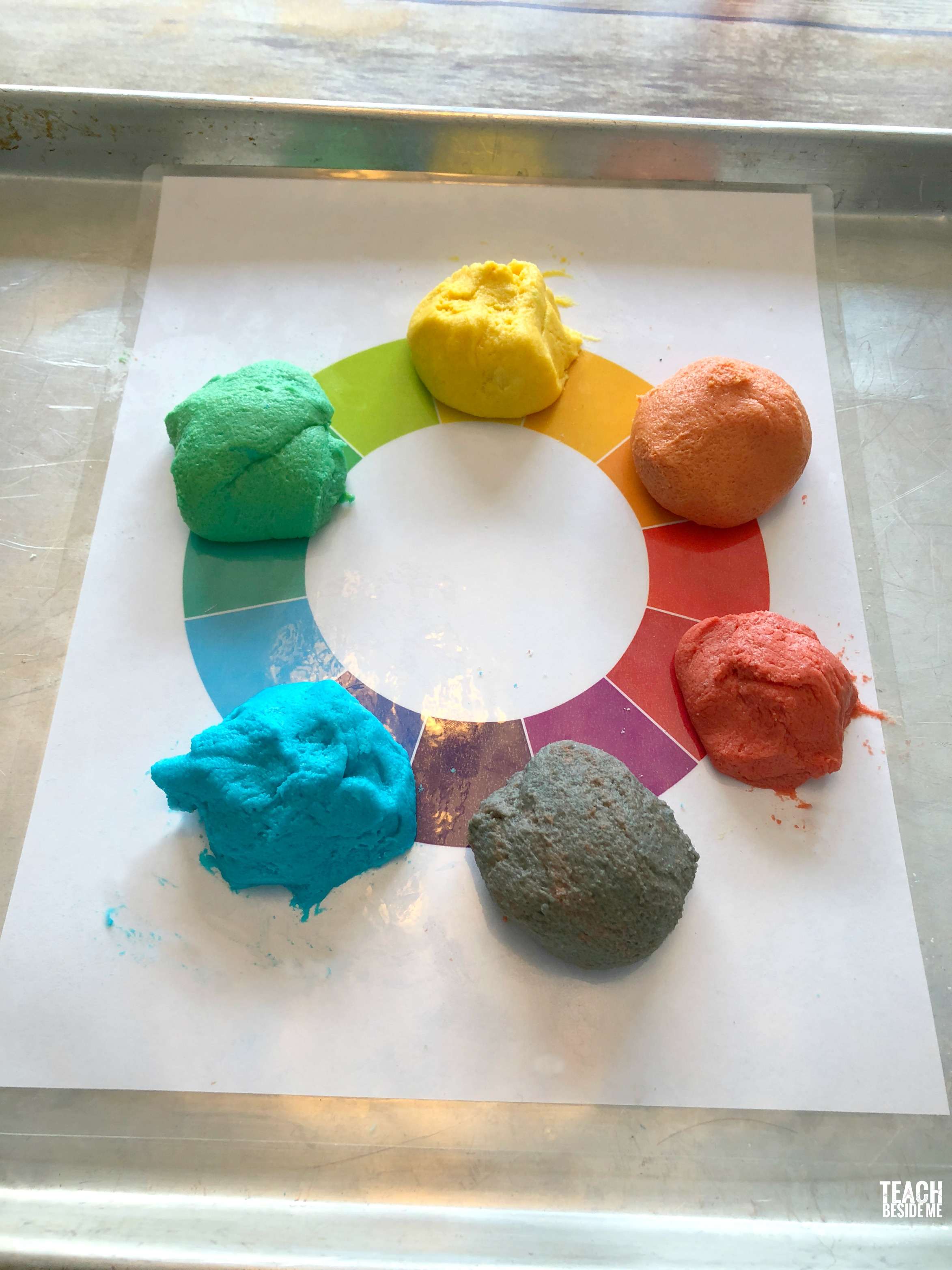 play dough color mixing activity
