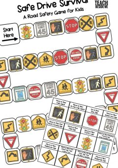 Road Safety Book & Game for Kids