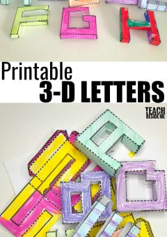 Printable 3D Letters