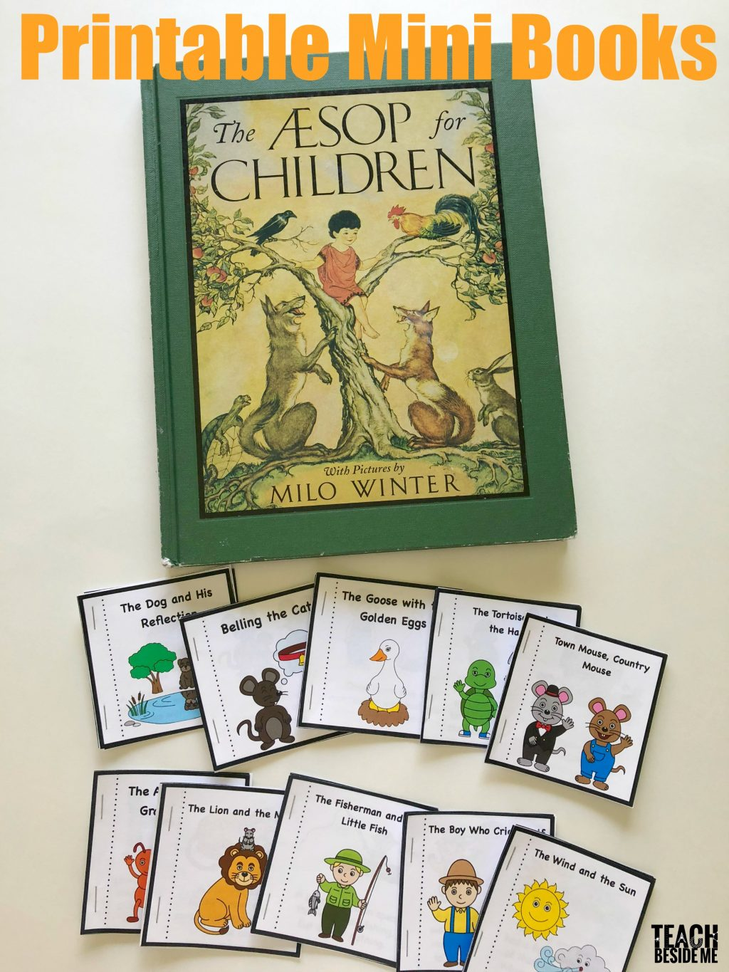 Aesop's fables printable mini books