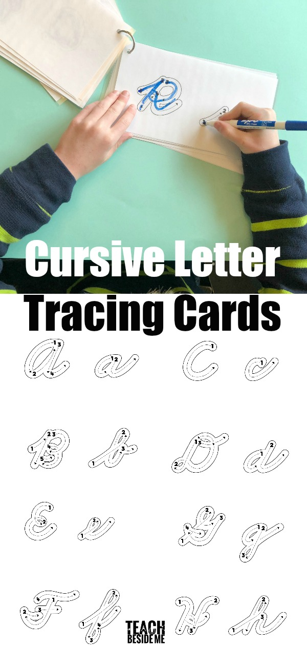 Cursive Letter Tracing Cards