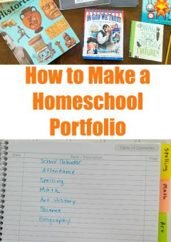 How to Make a Homeschool Portfolio