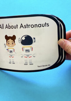 Astronaut Easy Reader Book for Kindergarten