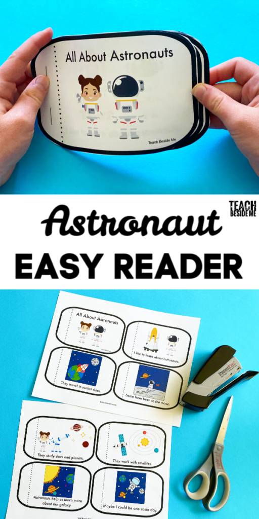astronaut easy reader book for kids