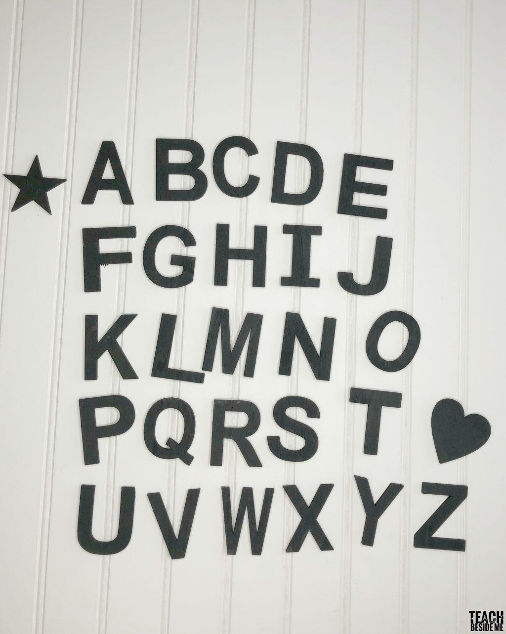 chalkboard letters DIY