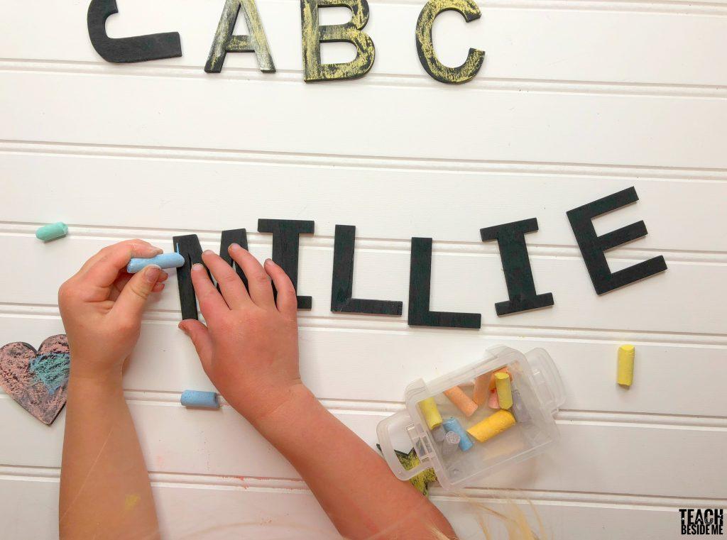chalk letters