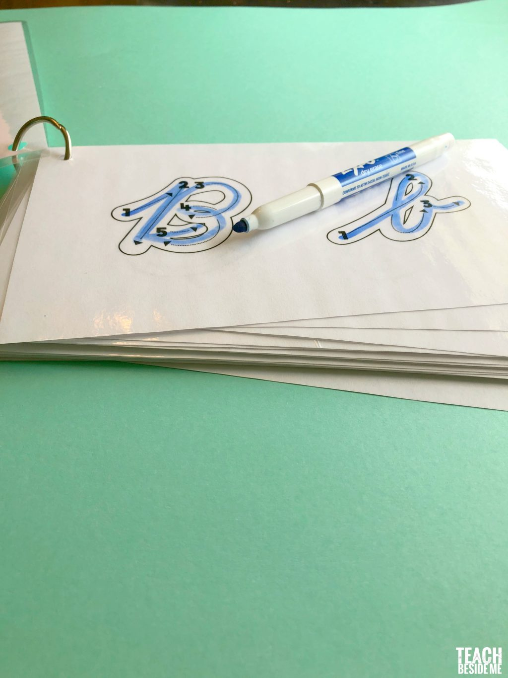 Cursive Letter Formation Tracing Cards Teach Beside