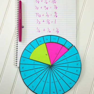 Adding Fractions: Fraction Addition Dial