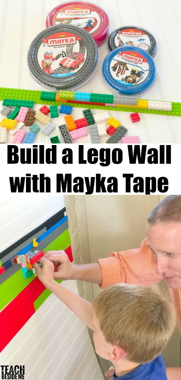 How to build a lego wall with mayka tape