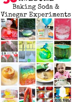 30 AWESOME Baking Soda and Vinegar Experiments