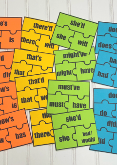 Grammar: Contraction Puzzles
