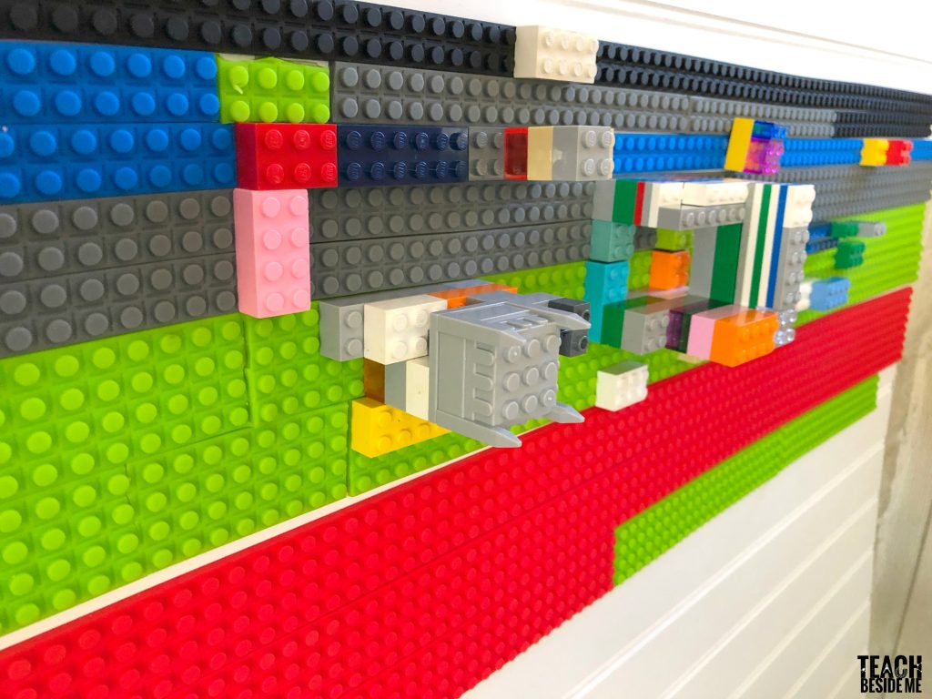 removable lego tape wall