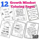 Growth Mindset Quotes for Kids to Color
