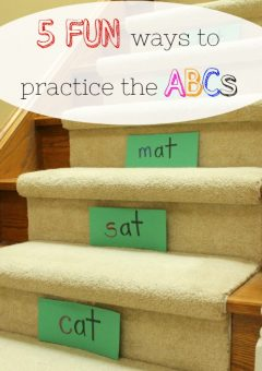 5 Fun Ways to Practice the ABC's