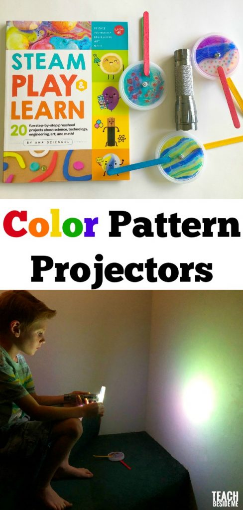 Color mixing science project- color pattern projectors