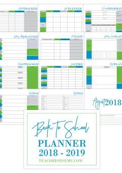 Back to School Planner and Homeschool Planner