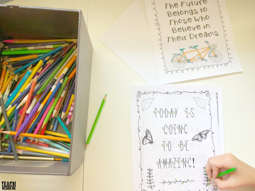 motivational quotes and growth mindset coloring pages