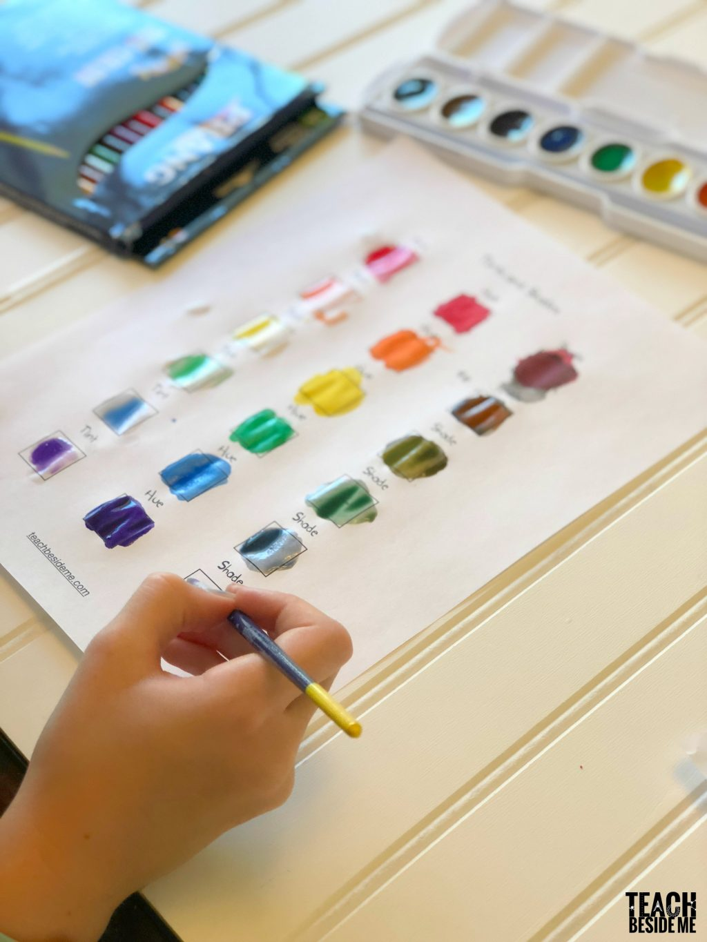 prang watercolors tints and shades