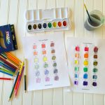 Tints and Shades with Watercolors and Colored Pencils