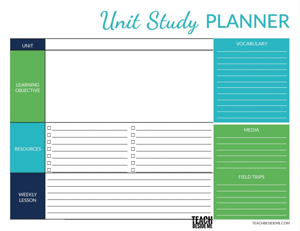 printable homeschool planner pages