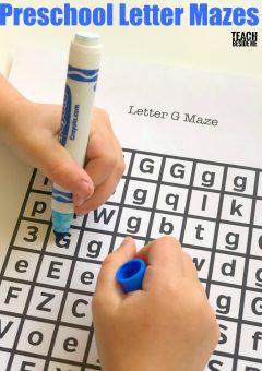 Printable Preschool Letter Mazes