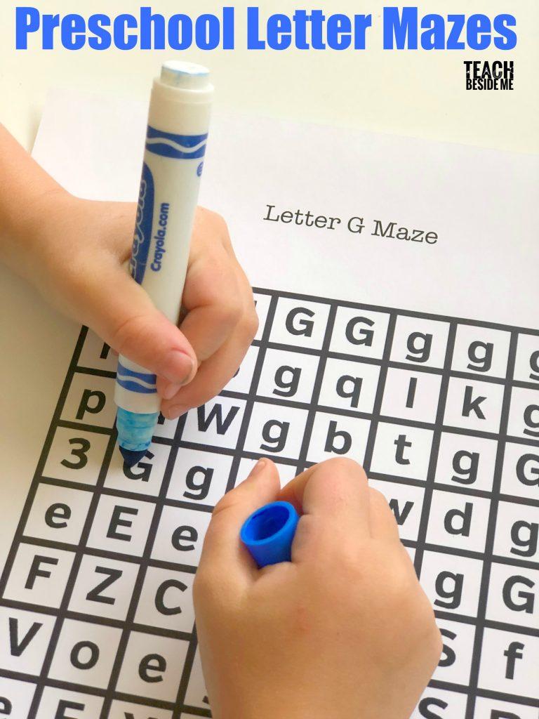 Preschool Letter Mazes