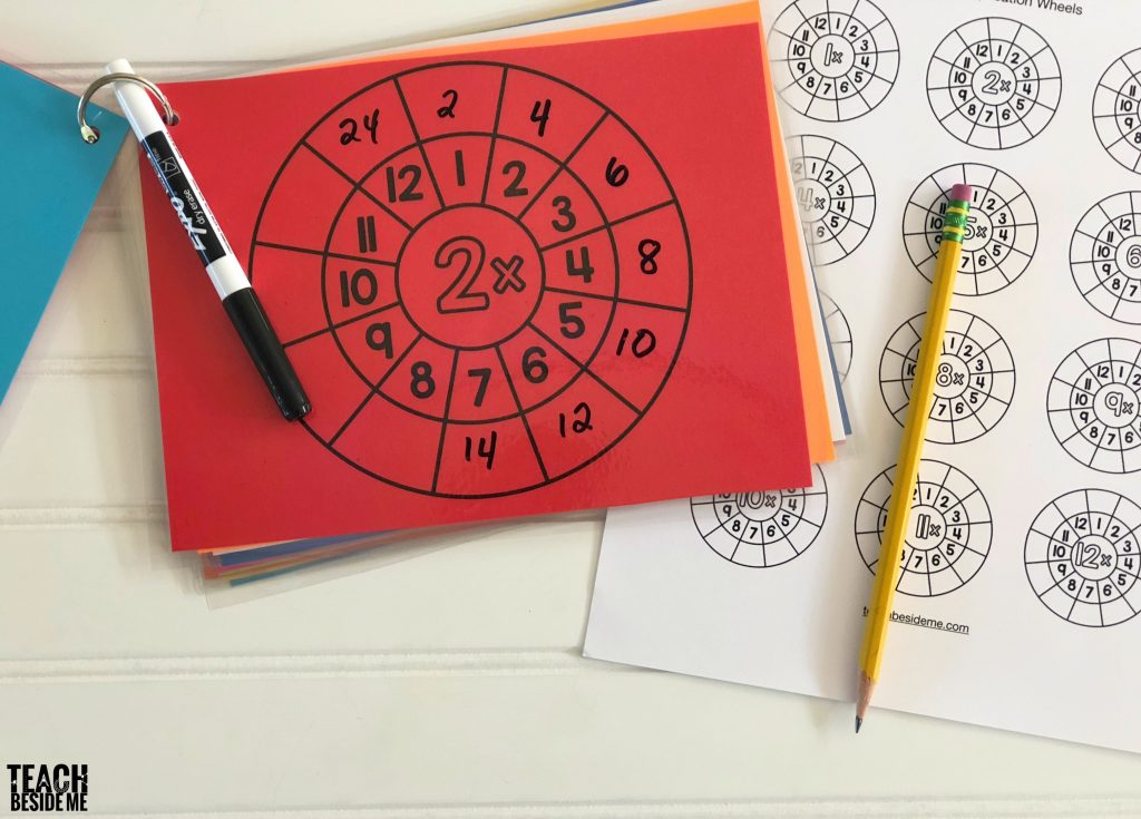Teach Multiplication- multiplication wheels