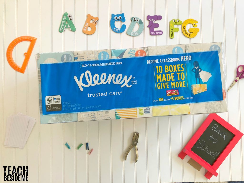 back to school with kleenex