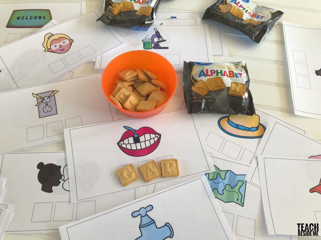 cvc spelling with letter cookies