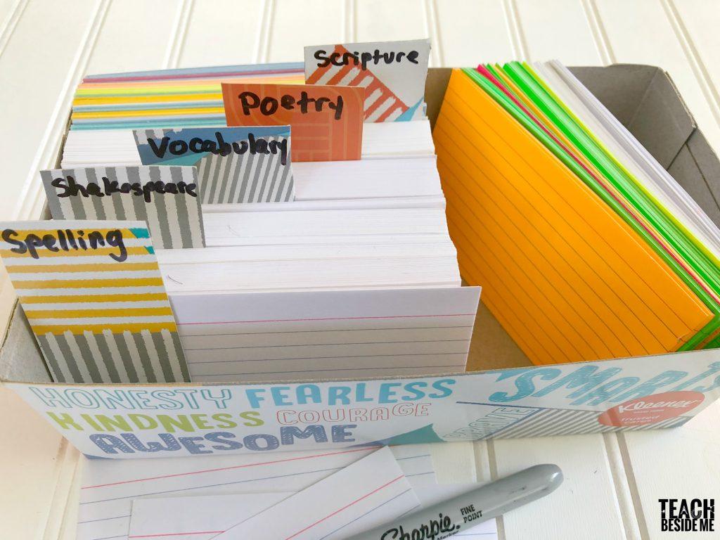 file box for memorization