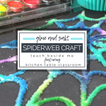 Glue and Salt Spiderweb Craft