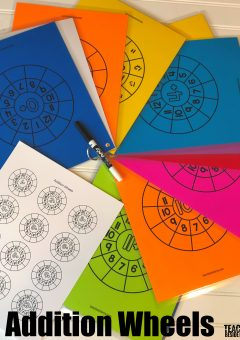 Printable Math Addition Wheels